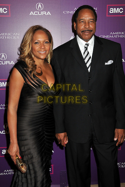 TONYA TURNER & DAVE WINFIELD .23rd Annual American Cinematheque Awards at the Beverly Hilton Hotel, Beverly Hills, California, USA..December 1st, 2008.half length black dress suit married husband wife .CAP/ADM/BP.©Byron Purvis/AdMedia/Capital Pictures.