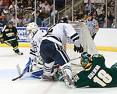 (Roloff) Alec Richards (Yale - 33), Jimmy Martin (Yale - 2), Viktor Stalberg (Vermont - 18) - The University of Vermont Catamounts defeated the Yale University Bulldogs 4-1 in their NCAA East Regional Semi-Final match on Friday, March 27, 2009, at the Bridgeport Arena at Harbor Yard in Bridgeport, Connecticut.