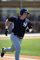 New York Yankees Connor Spencer (39) during a minor league Spring Training game against the Toronto Blue Jays on March 22, 2016 at Englebert Complex in Dunedin, Florida.  (Mike Janes/Four Seam Images)