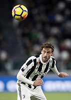Calcio, Serie A: Juventus - Crotone, Torino, Allianz Stadium, 26 dicembre, 2017.<br /> Juventus' Claudio Marchisio in action during the Italian Serie A football match between Juventus and Crotone at Torino's Allianz stadium, November 26, 2017.<br /> UPDATE IMAGES PRESS/Isabella Bonotto