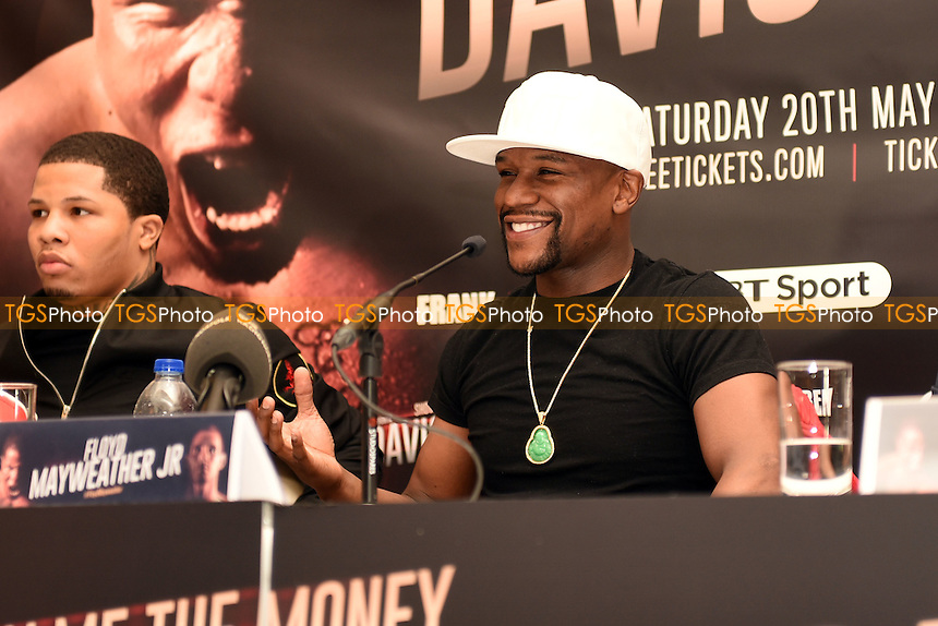 Floyd Mayweather Jr during a Press Conference at the Savoy Hotel on 7th March 2017