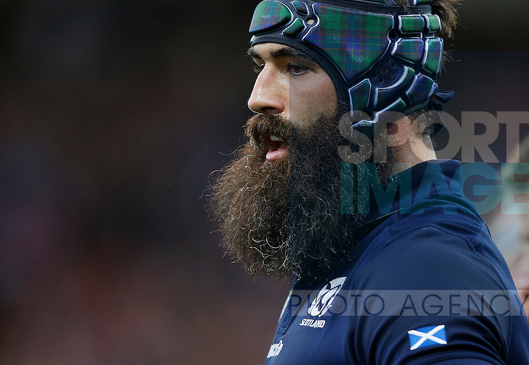 Josh Strauss of Scotland and his beard - Rugby World Cup 2015 - Pool B - Scotland vs Japan - Kingsholm Stadium - Gloucester - England - 23rd September 2015 - Picture Simon Bellis/Sportimage