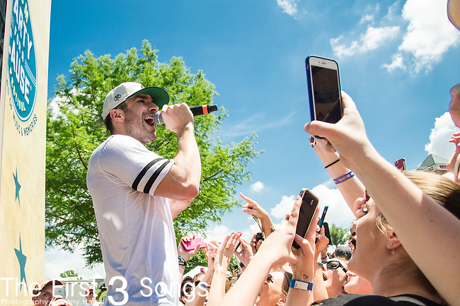 Sam Hunt performs onstage during the ACM Party For A Cause Festival at Globe Life Park on April 18, 2015 in Arlington, Texas.