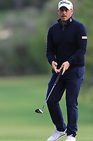 Jose-Filipe Lima (POR) on the 7th green during Round 2 of the Challenge Tour Grand Final 2019 at Club de Golf Alcanada, Port d'Alcúdia, Mallorca, Spain on Friday 8th November 2019.<br /> Picture:  Thos Caffrey / Golffile<br /> <br /> All photo usage must carry mandatory copyright credit (© Golffile | Thos Caffrey)
