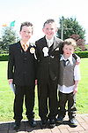Eoghan Byrne, Craig Atkinson and Kieran Byrne at the Donacarney First Holy Communion...Photo NEWSFILE/Jenny Matthews.(Photo credit should read Jenny Matthews/NEWSFILE)....This Picture has been sent you under the condtions enclosed by:.Newsfile Ltd..The Studio,.Millmount Abbey,.Drogheda,.Co Meath..Ireland..Tel: +353(0)41-9871240.Fax: +353(0)41-9871260.GSM: +353(0)86-2500958.email: pictures@newsfile.ie.www.newsfile.ie.FTP: 193.120.102.198.