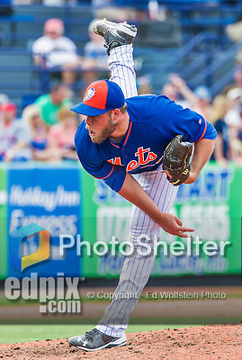 8 March 2015: New York Mets pitcher Cody Satterwhite on the mound during Spring Training action against the Boston Red Sox at Tradition Field in Port St. Lucie, Florida. The Mets fell to the Red Sox 6-3 in Grapefruit League play. Mandatory Credit: Ed Wolfstein Photo *** RAW (NEF) Image File Available ***