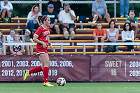 NEWTON, MA - AUGUST 29: Elle Conlin #22 of Boston University brings the ball forward during a game between Boston University and Boston College at Newton Campus Field on August 29, 2019 in Newton, Massachusetts.