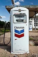 Abandoned Chevron Gas Pump in Nara Visa, NM