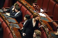 Roma, 15 Marzo 2013.Montecitorio, Camera dei Deputati.Primo giorno in Aula della XVII Legislatura del Parlamento italiano.Il settore dei deputati del Movimento 5 Stelle.Marta Grande