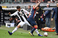 Rodrigo Bentancur of Juventus and Pedro Pereira of Genoa compete for the ball during the Serie A 2018/2019 football match between Genoa CFC and Juventus FC at stadio Luigi Ferraris, Genova, March 17, 2019 <br /> Photo Andrea Staccioli / Insidefoto