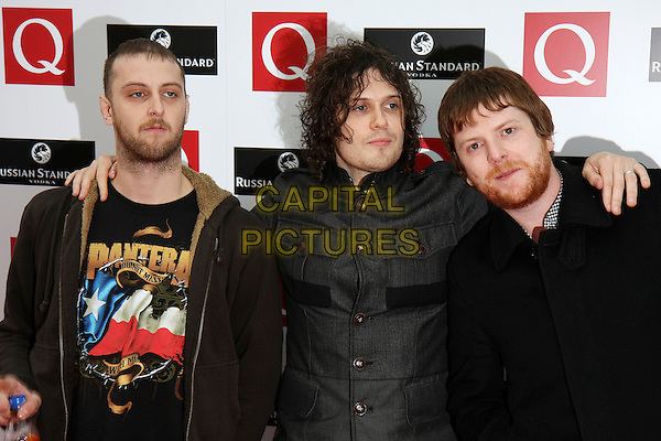 FRATELLIS.The Q Awards 2008, at the Grosvenor House Hotel, London, England..October 6th, 2008.half length black jacket grey gray beard facial hair .CAP/MAR.© Martin Harris/Capital Pictures.