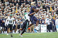 Annapolis, MD - October 26, 2019: Navy Midshipmen wide receiver Mychal Cooper (3) catches a pass during the game between Tulane and Navy at  Navy-Marine Corps Memorial Stadium in Annapolis, MD.   (Photo by Elliott Brown/Media Images International)