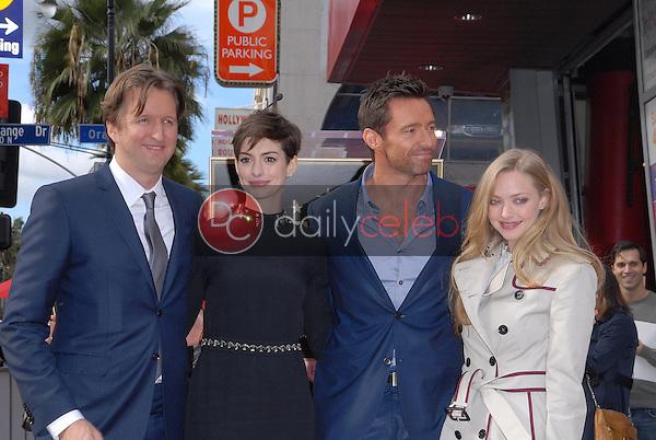 Tom Hooper, Anne Hathaway, Hugh Jackman, Amanda Seyfried<br /> at the Hugh Jackman Star on the Hollywood Walk of Fame Ceremony, Hollywood, CA 12-13-12<br /> David Edwards/DailyCeleb.com 818-249-4998
