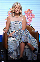 2019 FOX SUMMER TCA: BH90210 cast member Tori Spelling during the BH90210 panel at the 2019 FOX SUMMER TCA at the Beverly Hilton Hotel, Wednesday, Aug. 7 in Beverly Hills, CA. CR: Frank Micelotta/FOX/PictureGroup