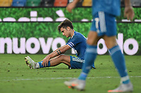 Paulo Dybala of Juventus during the Serie A football match between Udinese Calcio and Juventus FC at Friuli stadium in Udine (Italy), July 23th, 2020. Play resumes behind closed doors following the outbreak of the coronavirus disease. Photo Federico Tardito / Insidefoto