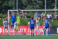 Boston, MA - Saturday June 24, 2017: Megan Oyster and Katelyn Rowland during a regular season National Women's Soccer League (NWSL) match between the Boston Breakers and the North Carolina Courage at Jordan Field.