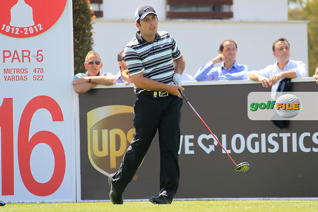 Francesco Molinari (ITA) tees off on the 16th tee during Sunday's Final Round of the Open de Espana at Real Club de Golf de Sevilla, Seville, Spain, 6th May 2012 (Photo Eoin Clarke/www.golffile.ie)