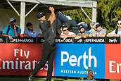 9th February 2018, Lake Karrinyup Country Club, Karrinyup, Australia; ISPS HANDA World Super 6 Perth golf, second round; Thorbjorn Olesen (DEN) with his tee shot