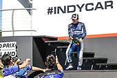 Takuma Sato, Rahal Letterman Lanigan Racing Honda, champagne, podium
