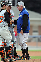 July 15th 2008:  Pitching Coach Scott McGregor of the Aberdeen Ironbirds, Class-A affiliate of the Baltimore Orioles, during a game at Dwyer Stadium in Batavia, NY.  Photo by:  Mike Janes/Four Seam Images
