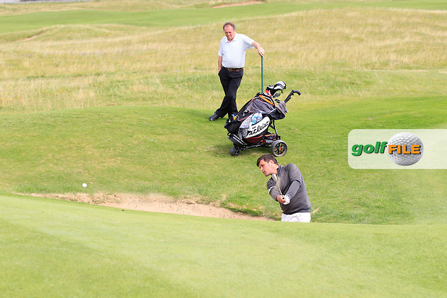 Stuart Bleakley (Shandon Park) on the 1st during the Quarter Finals of The South of Ireland in Lahinch Golf Club on Tuesday 29th July 2014.<br /> Picture:  Thos Caffrey / www.golffile.ie