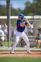 Will Johnston during the WWBA World Championship at the Roger Dean Complex on October 19, 2018 in Jupiter, Florida.  Will Johnston is an outfielder from Roanoke, Texas who attends Keller High School and is committed to Texas A&M.  (Mike Janes/Four Seam Images)