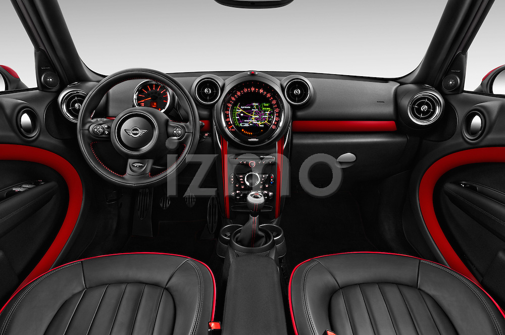 Stock photo of straight dashboard view of 2016 MINI Countryman JCW 5 Door Hatchback Dashboard