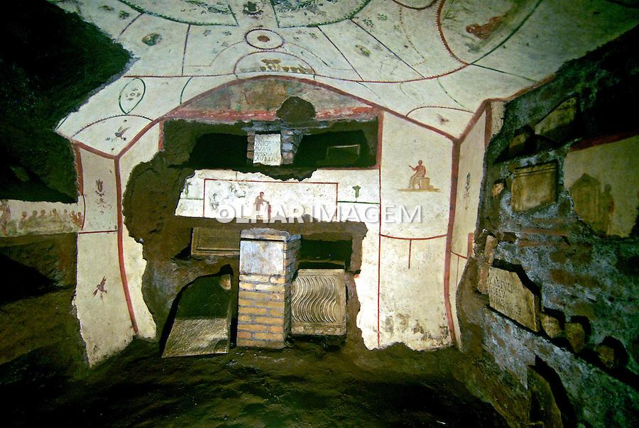 Catacumbas de San Callisto na Via Appia Antica. Roma. Itália. 2006.Foto de Luciana Whitaker.