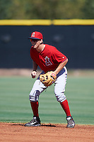 Los Angeles Angels of Anaheim Jordan Zimmerman (36) during an Instructional League game against the Colorado Rockies on October 6, 2016 at the Tempe Diablo Stadium Complex in Tempe, Arizona.  (Mike Janes/Four Seam Images)