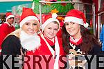 Participating in the Killarney Jingle run on Sunday were l-r: Amanda Kelleher Killorglin, Melissa O'Brien Killarney and Lisa Kelleher Killorglin