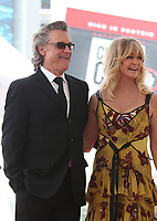 HOLLYWOOD, CA - MAY 04: Kurt Russell and Goldie Hawn pictured at the ceremony honoring Goldie Hawn and Kurt Russell with a double star ceremony on The Hollywood Walk of Fame on May 4, 2017 in Hollywood, California. Credit: Faye Sadou/MediaPunch