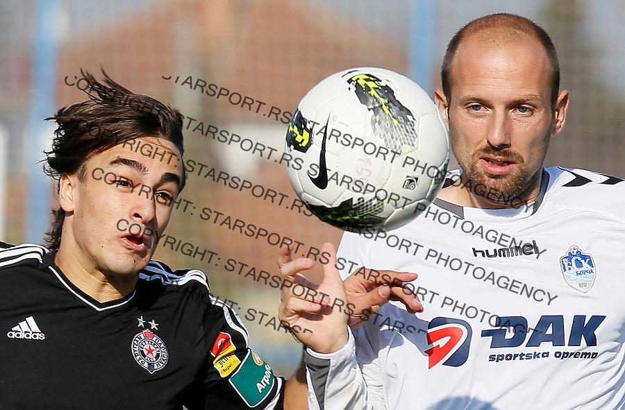 Fudbal, Jelen super liga, season 2011/2012.BSK Borca Vs. Partizan.Lazar Markovic, left and Marko Boskovic.Beograd, 05.11.2011..Srdjan Stevanovic/Starsportphoto ©