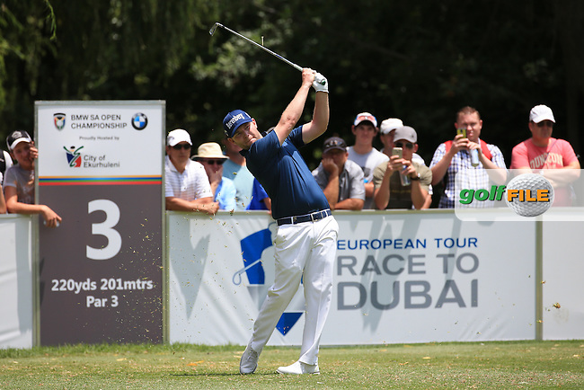 Branden Grace (RSA) in action during Round Three of the 2016 BMW SA Open hosted by City of Ekurhuleni, played at the Glendower Golf Club, Gauteng, Johannesburg, South Africa.  09/01/2016. Picture: Golffile | David Lloyd<br /> <br /> All photos usage must carry mandatory copyright credit (&copy; Golffile | David Lloyd)