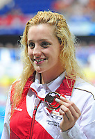 England's Molly Renshaw with her bronze medal for the women's 200m breaststroke<br /> <br /> Photographer Chris Vaughan/CameraSport<br /> <br /> 20th Commonwealth Games - Day 3 - Saturday 26th July 2014 - Swimming - Tollcross International Swimming Centre - Glasgow - UK<br /> <br /> © CameraSport - 43 Linden Ave. Countesthorpe. Leicester. England. LE8 5PG - Tel: +44 (0) 116 277 4147 - admin@camerasport.com - www.camerasport.com