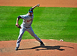 7 June 2009: New York Mets' pitcher Pedro Feliciano on the mound in relief against the Washington Nationals at Nationals Park in Washington, DC. The Mets shut out the Nationals 7-0 to take the third game of the weekend series. Mandatory Credit: Ed Wolfstein Photo