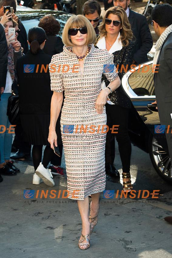 Anna Wintour Chanel s fashion show arrivals - Paris - 04/10/2016 <br /> Foto Panoramic / Insidefoto