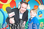 SURPRISE!: Leanne Hanafin (9) from Presentation Primary School was shocked and delighted to find out she had won the Newstalk Moncrieff Easter poetry competition on Newstalk 106-108 fm, pictured here with reporter Henry McKean.