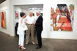 SANTA MONICA - JUN 25: Carol Collier, Basil Collier, Trevor Victor Harvey at the David Bromley LA Women Art Exhibition opening reception at the Andrew Weiss Gallery on June 25, 2016 in Santa Monica, California