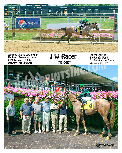J W Racer winning at Delaware Park on 8/26/15