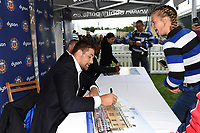 Bath Rugby players sign autographs for supporters. Gallagher Premiership match, between Bath Rugby and Gloucester Rugby on September 8, 2018 at the Recreation Ground in Bath, England. Photo by: Patrick Khachfe / Onside Images