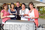 FOOD: Waiting for their food at the Spa/Fenit Hospic Foundation Bar-B-Que in The Tankard Bar & Restaurant, Fenit, on Sunday, Margaret Byrne, Mary Golden, Adrian O'Sullivan(catherer), Liz Nolan and Marie Tarrant.