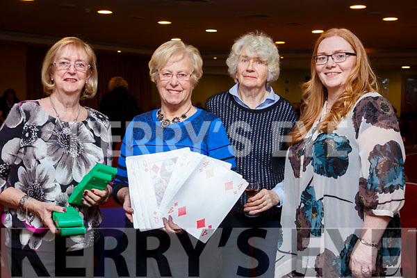 Attending the Tralee International Bridge Congress at the Monor West hotel, Tralee on Saturday night last, l-r, Ann Harrington (Swords), Phyllis Spence (CRC), Kay Seymore (Howth) and Trish Stack (Kerry).