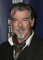 """LOS ANGELES - JANUARY 22:  Pierce Brosnan at the opening night of """"The Last Ship"""" on January 22, 2020 at the Ahmanson Theatre in Los Angeles, California. (Photo by Scott Kirkland/PictureGroup)"""