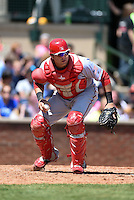 Hagerstown Suns catcher Spencer Kieboom (20) retrieves a pitch in the dirt during a game against the Lexington Legends on May 19, 2014 at Whitaker Bank Ballpark in Lexington, Kentucky.  Lexington defeated Hagerstown 10-8.  (Mike Janes/Four Seam Images)