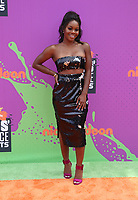 LOS ANGELES, CA July 13- Gabby Douglas, At Nickelodeon Kids' Choice Sports Awards 2017 at The Pauley Pavilion, California on July 13, 2017. Credit: Faye Sadou/MediaPunch