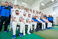 Picture by Allan McKenzie/SWpix.com - 02/04/2018 - Cricket - Yorkshire County Cricket Club Media Day 2018 - Headingley Cricket Ground, Leeds, England - Yorkshire prepare to have their 2018 team photo taken in their indoor nets.