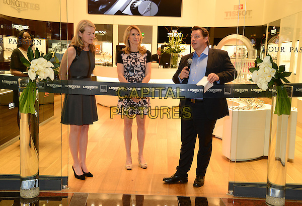 LAS VEGAS, NV - January 30: Jennifer Judkins, Steffi Graf, and Gael Vallade at the Hour Passion boutique grand opening at Aria Resort &amp; Casino on January 30th, 2014 in Las Vegas, Nevada. <br /> CAP/MPI/RTNRDKabik<br /> &copy;RTNRDKabik/MediaPunch/Capital Pictures