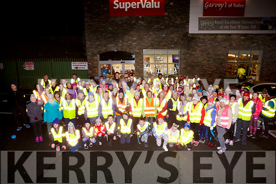 Ready for road at the Garvey's SuperValu, Tralee Operation Transformation Walk on Thursday, January 11 last.