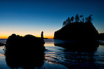 Autumn sunset at Second Beach, La Push, Washington.
