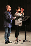 Stephen Flaherty and Lynn Ahrens during the Stage Presentation of Dramatists Guild Fund Fellows  2015-2016 at Playwrights Horizons on September 19, 2016 in New York City.